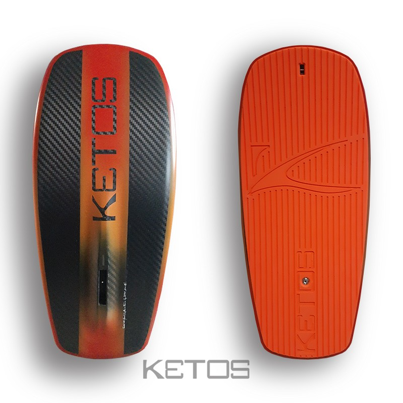 red-orange with orange pad
