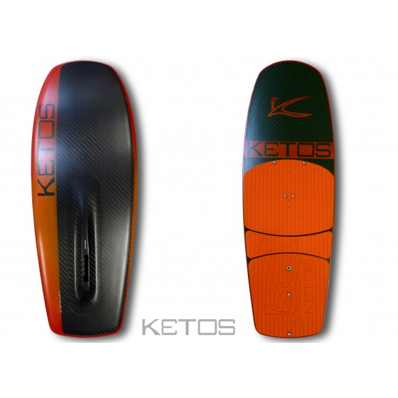 Kite board Skimm 2 orange red black pad